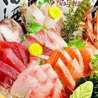 直送の新鮮魚介などの産地直送・厳選素材の数々