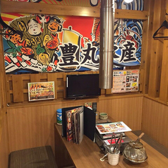 賑やかな店内にテーブルの半個室席です。1~6名様まで使用可能です。友人、カップル、会社返りのちょい飲みに!