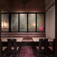 店内に1席のみご用意のある完全個室のお席です。大人気のお席のため早めのご予約をおすすめいたします。名古屋城観光のあとにぜひご利用ください!