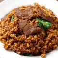 料理メニュー写真牛肉黒炒飯
