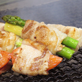 料理メニュー写真野菜の豚巻きの炭火焼