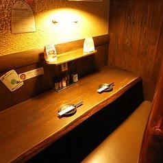 大人気のカップルシート!!落ち着いた照明が二人の素敵な時間を演出☆誰にも邪魔されない空間です♪