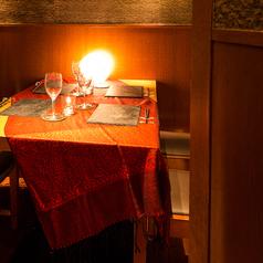 【テーブル完全個室】黒を基調としたモダンな個室。接待などにも◎