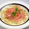 料理メニュー写真チーズ3種のクリームパスタ(生ハム添え)
