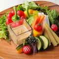 料理メニュー写真新鮮な《野菜》を使用したバーニャカウダも人気