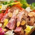 料理メニュー写真栗豚のステーキ ガーリック醤油ソース