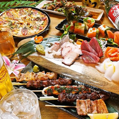 1本から注文できる串焼きや種類豊富なドリンク♪ファミリーにも宴会にもおススメ!