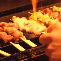 串焼きは種類も豊富、定番やきとん。新作串焼き続々登場