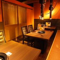 プライベートのお食事には個室やテーブル席もOK♪