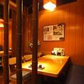 和情緒あふれる人気の半個室はご家族でのお食事や接待にもオススメです。