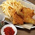 料理メニュー写真王様のやみつき鶏の半身揚げ
