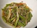 料理メニュー写真【今が旬!】旬のおばんざいの一例) 葉ごぼう