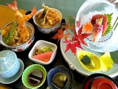 海老天丼二種膳(刺身付き)