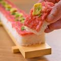 料理メニュー写真長い棒寿司