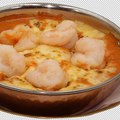 料理メニュー写真エビの焼チーズカレー