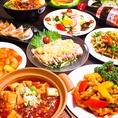 本格中華をコースでもお楽しみいただけます。お得に心ゆくまで楽しむなら、「食べ&飲み放題」コース3000円(税抜)~/女性3000円(税抜)~がオススメ。接待や記念日など、大切な日の宴会には「フカヒレ姿煮コース」や「アワビ姿煮コース」を5500円(税抜)よりご用意しております。