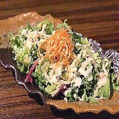 蒸鶏とアボカドのシーザーサラダ