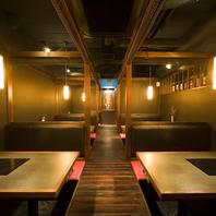 宴会お座敷最大42名様まで。飲み放題付コースは3500円~