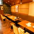 落ち着いた雰囲気の店内は、ゆっくり飲みたいときにおすすめ!!当店自慢のお料理でくつろぎのひとときをお過ごしください。