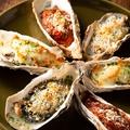 料理メニュー写真広島産大粒焼き牡蠣3種盛り合わせ 6P