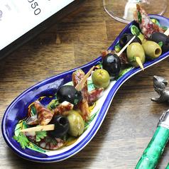 SINSHU TARO pork salami & Olive pintxos  信州太郎ぽーくのサラミとオリーブピンチョス