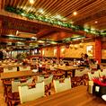 異国情緒な雰囲気のリゾートダイニング♪アジア8ヶ国の文化が入り混じったモダンアジアンな店内。