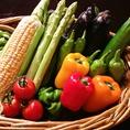 こだわり抜いた厳選地場野菜も自慢です。【例】新発田産の極太アスパラやコリンキー、バターナッツ、マコモタケなどその時その瞬間でしか味わえない旬の味覚をご賞味ください。