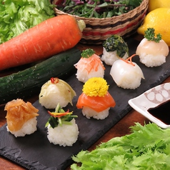 お野菜とお魚の手毬寿司