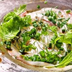 料理メニュー写真本日の白身魚のカルパッチョ