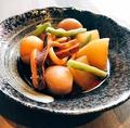 料理メニュー写真イカと里芋の煮物