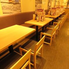お子様連れでも安心の広々店内!ゆったりとお過ごし頂けるため、ご家族でのお食事にもおすすめです!