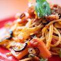 料理メニュー写真季節のトマトパスタ