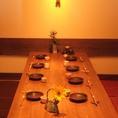 8名様用のお席は会社宴会に最適