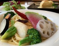 旬野菜の選べるペペロンチーノ