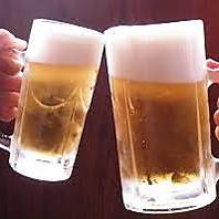 ★夏季限定★生ビールもOK!ビールやサワーが258円!