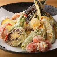 新鮮魚介と旬の加賀野菜で彩る【季節の天ぷら盛合せ】