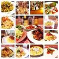 メニュー豊富で、『パスタ食べ&飲み放題コース』も!お腹いっぱい食べていって~♪