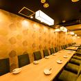 【最大100名様:個室】心置きなくゆったりと寛げる空間で、旬の食材を使用したバル料理をご堪能ください。
