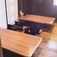 5人掛けのお座敷席です。宴会時には20~24名様での個室としてご利用いただけます。