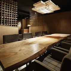 居心地の良いテーブル席。大き目のテーブルは広々とご利用頂けます。