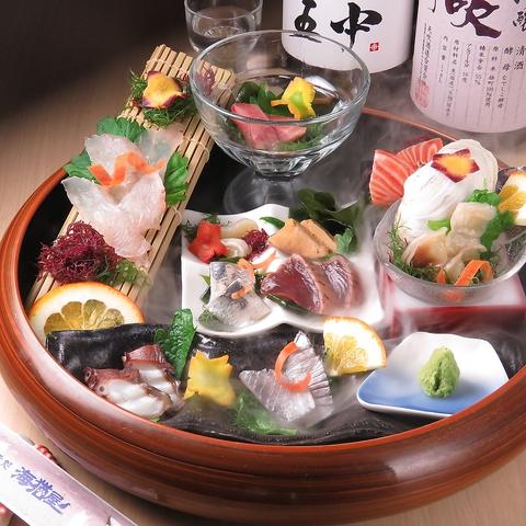 九州名物堪能コース3000円~新鮮刺身や水炊き等博多名物を愉しめる!お一人様も大歓迎