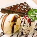 料理メニュー写真■ガトーショコラ&バニラアイス