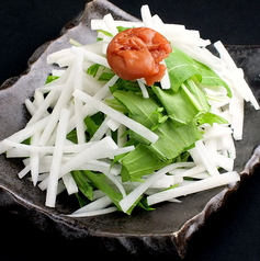 料理メニュー写真大根と水菜の梅肉ソース