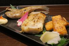 焼き魚3点盛り合わせ(氷下魚・銀ムツ・ハラス)