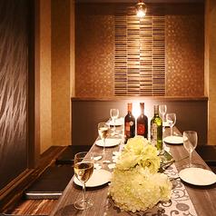 【6~8名様個室】大人数様も個室でご案内致します!きらびやかで和モダンテイストの空間はプライベートな飲み会から会社宴会まで幅広くお使いいただけます☆雰囲気抜群の空間で上質なお時間をお過ごし下さい。
