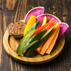 料理メニュー写真バンバンの野菜スティック梅味噌ディップ