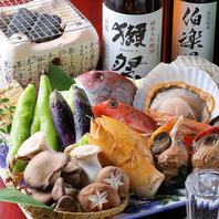 地産地消、三陸沖で採れる魚介や季節食材豊富な料理