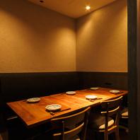 宴会に最適な個室。最大12名まで対応可能。