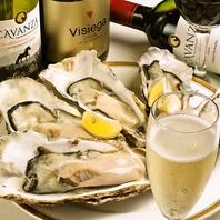 新鮮な生牡蠣はぜひお酒とご一緒に!