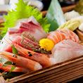 個室居酒屋のりをでは、毎朝市場で産地直送のお魚を仕入れています♪単品で450円(税別)、3種盛り合わせで780円(税別)とリーズナブルにお造りをお召し上がりいただけます!また、酢飯と海苔がついておりますのであまったお造りはごはんと一緒に手巻き寿司に!!十三でのお食事ならぜひ当店にお越しください♪